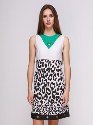Сукня біла в анималистичний принт | 4262421