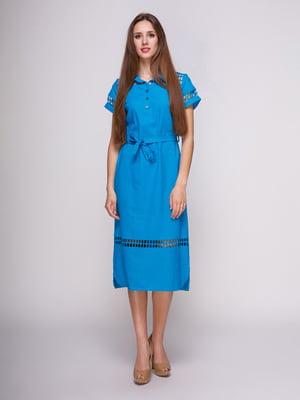 Платье голубое | 4262424
