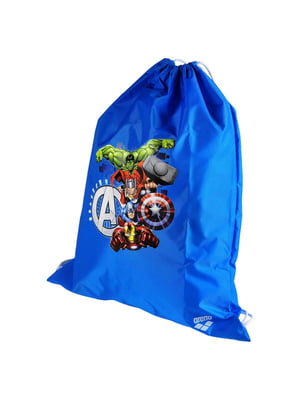 Рюкзак синий с принтом | 4250490