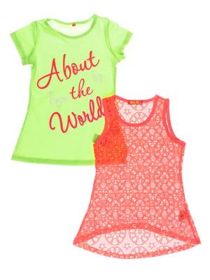 Комплект: майка и футболка | 4257382