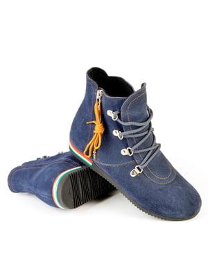 Ботинки синие   4263997