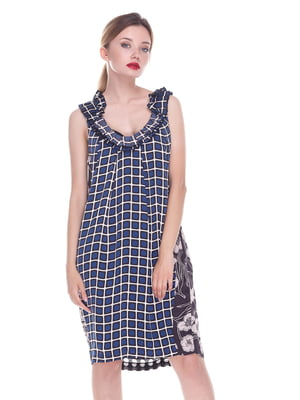 Платье черно-синие | 4252296