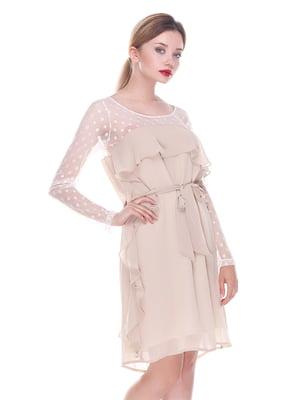 Платье бежевое | 4252306