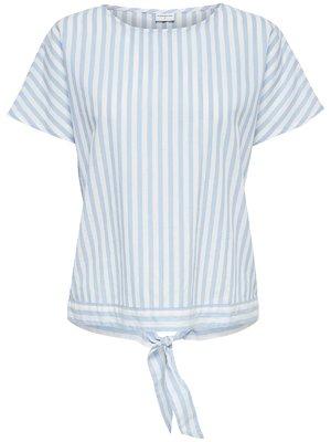 Блуза блакитна в смужку | 4129962