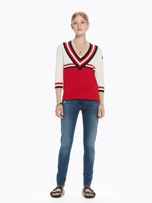 Пуловер красный | 4271365