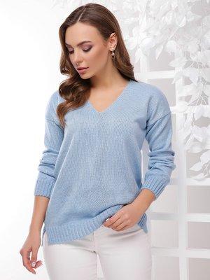 Пуловер голубой | 4272487