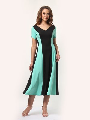 Платье черно-мятного цвета | 4272506