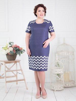 Сукня синя в принт | 4278209