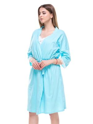 Комплект: халат и ночная рубашка | 4276415