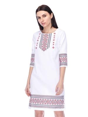 Платье белое с вышивкой - SOPHIE MARIA - 4280240