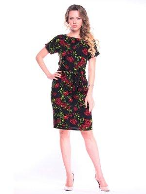 Платье в цветочный принт | 4065044