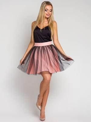 Юбка черно-розовая | 4283865