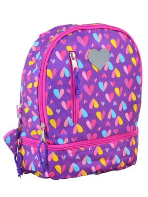 Рюкзак дитячий фіолетовий в принт | 4284713
