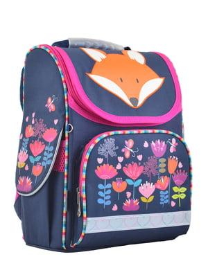 Рюкзак каркасний темно-синій в принт | 4284743