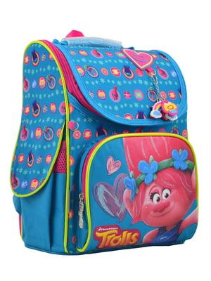 Рюкзак каркасный голубой в принт | 4284744