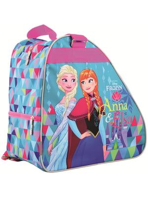 Рюкзак-сумка для ковзанів/роликових ковзанів блакитний з принтом | 4284760