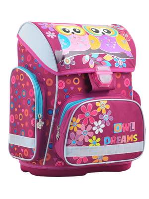 Рюкзак каркасний фіолетовий у принт | 4284763