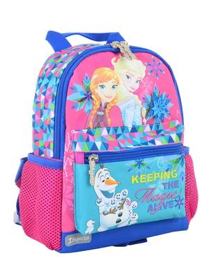 Рюкзак дитячий рожевий з принтом | 4284770