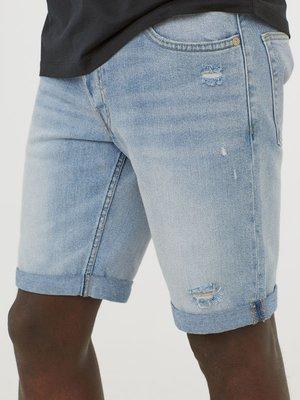 Шорты голубые джинсовые | 4284856