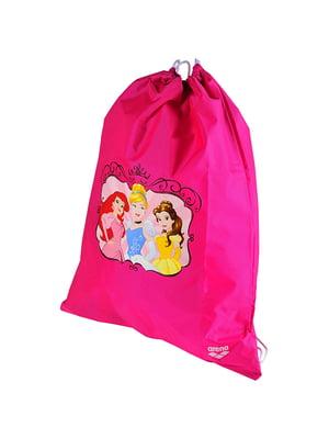 Рюкзак рожевий з принтом | 4250491