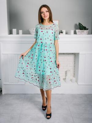 Сукня м'ятного кольору | 4287022
