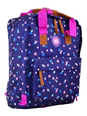 Рюкзак молодіжний синій в принт | 4284709