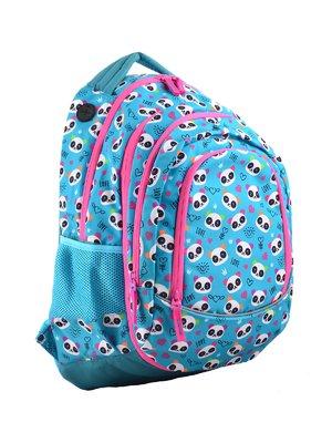 Рюкзак молодежный 2в1 голубой в принт | 4284749