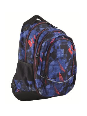 Рюкзак молодежный 2в1 темно-синий в принт | 4284752