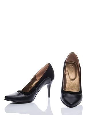 Туфли черные комбинированные | 289540