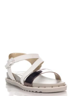 Сандалії біло-сріблясті | 4275737