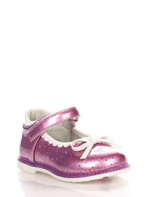 Туфлі бузкові в дрібний горошок | 3902848