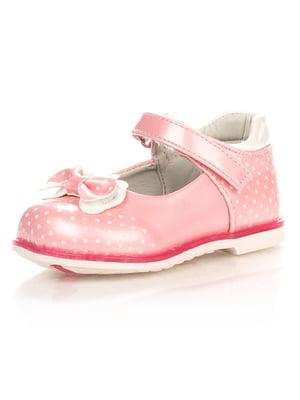 Туфлі рожеві в дрібний горошок | 3902845