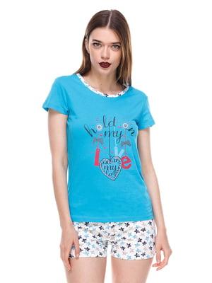 Пижама: футболка и шорты   4285910