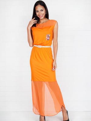 Платье оранжевое | 4294023