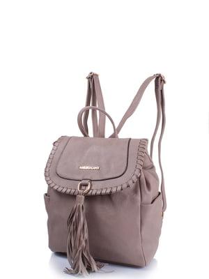 Рюкзак сіро-бежевий | 4301438