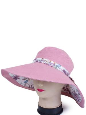 Капелюх рожевий з принтом   4301484