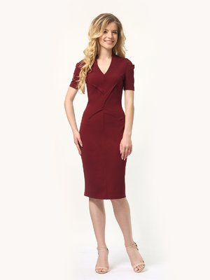 Платье бордовое   4301905