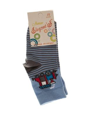 Шкарпетки в смужку з малюнком   4100467