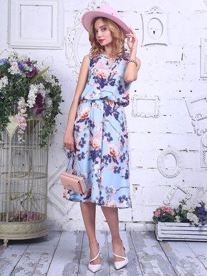 Платье в цветочный принт | 4302294