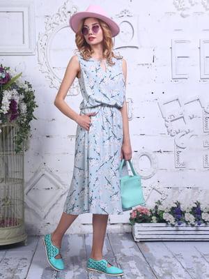 Платье в цветочный принт | 4302291
