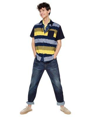 Рубашка синяя в полоску | 4283766