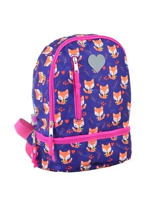 Рюкзак дитячий темно-синій в принт | 4284714