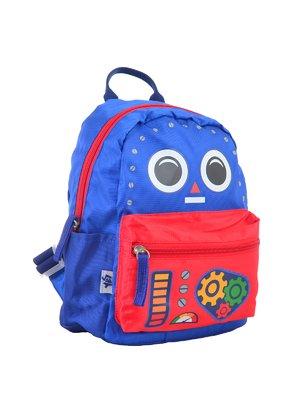Рюкзак дитячий синьо-червоний в принт | 4284718