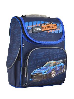 Рюкзак каркасний синій в принт | 4284745