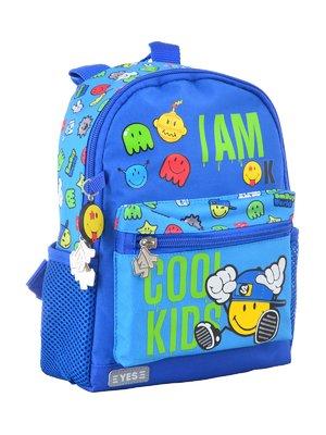 Рюкзак дитячий блакитний в принт | 4284769
