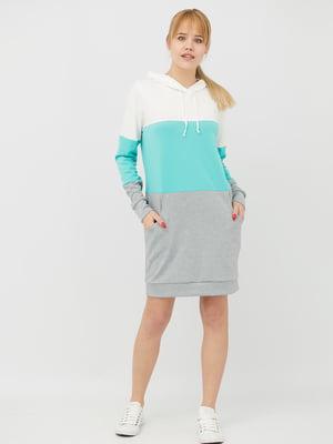 Платье комбинированной расцветки | 4285614