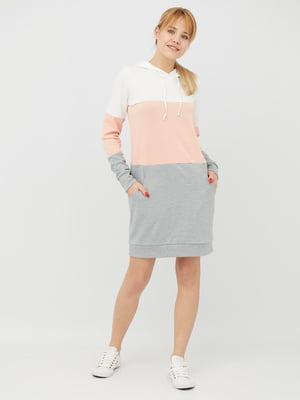 Платье комбинированной расцветки | 4285615