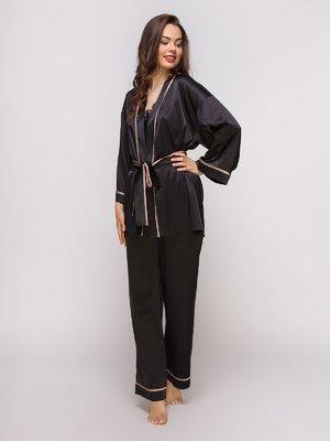 Штани чорні піжамні | 4300571