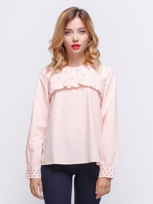 Блуза цвета пудры | 3839866