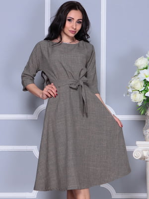 Платье цвета бежевый хаки | 4297700